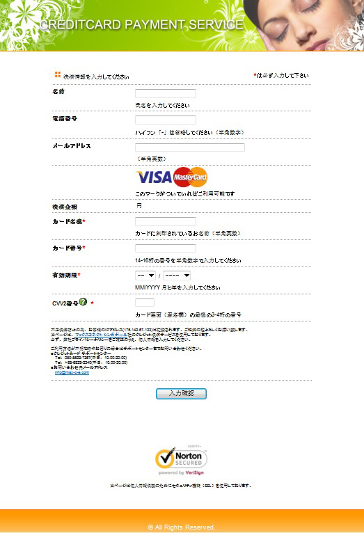 HTML-Link Payment Screen Example